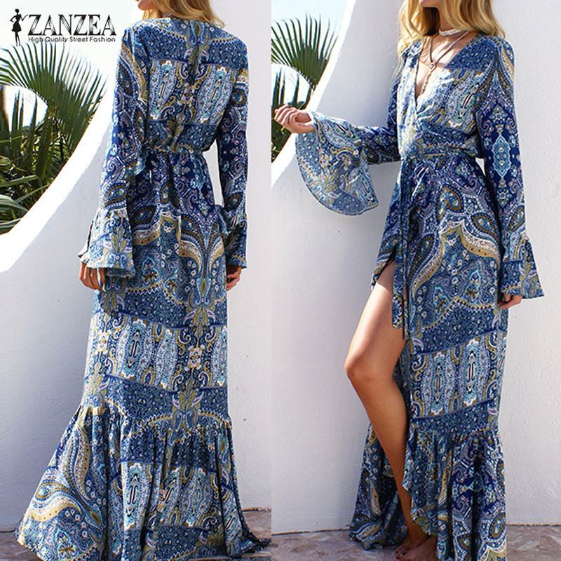 Long boho dress pattern