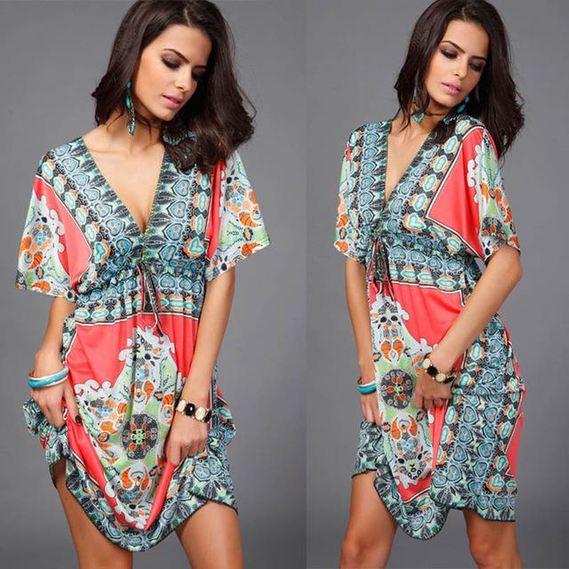 boho style midi dress 6 boho styles casual bohemian dress green girl style. Black Bedroom Furniture Sets. Home Design Ideas