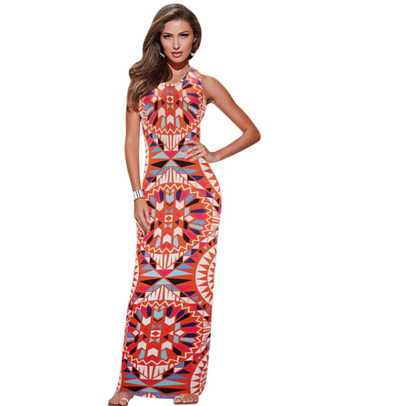 red bodycon floor length maxi dress with sleeves