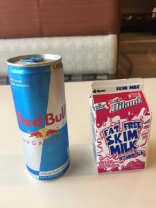 Image of Red Bull and Skim Milk Lunch